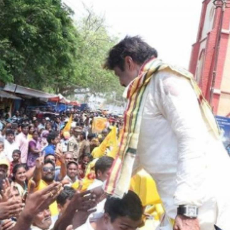 Actor turned politician Nandamuri Balakrishna loses cool; thrashes supporter during campaign; Watch Video