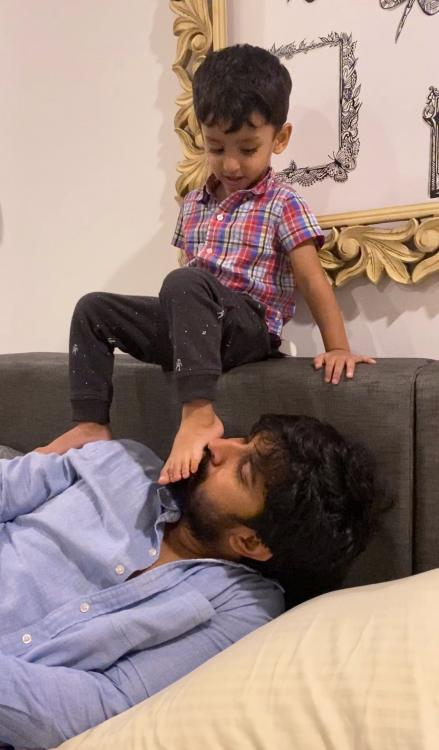 VIDEO: Nani enjoys his crazy playtime with son Arjun and it is setting major father goals