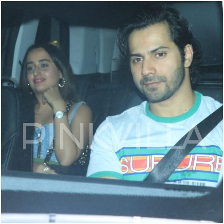 Varun Dhawan and girlfriend Natasha Dalal go out on a dinner date.