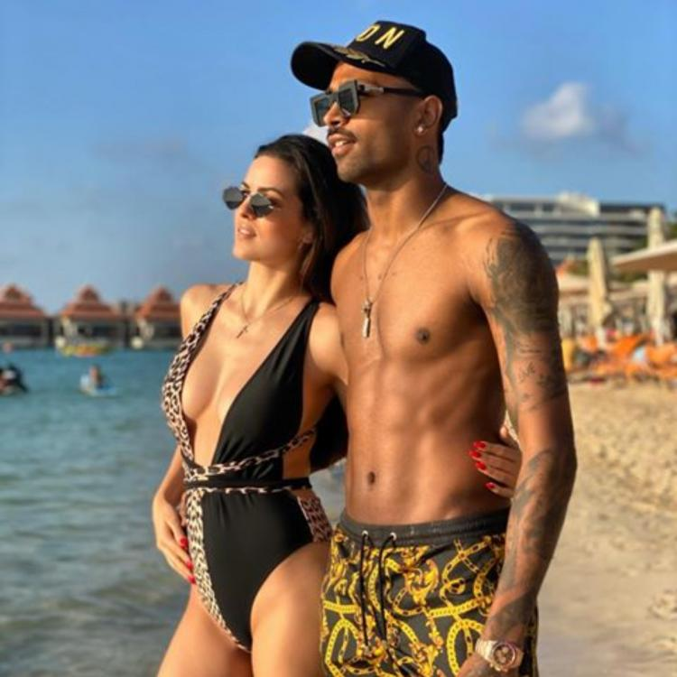 Natasa Stankovic and fiance Hardik Pandya sizzle in swimwear in a throwback pic from their romantic getaway