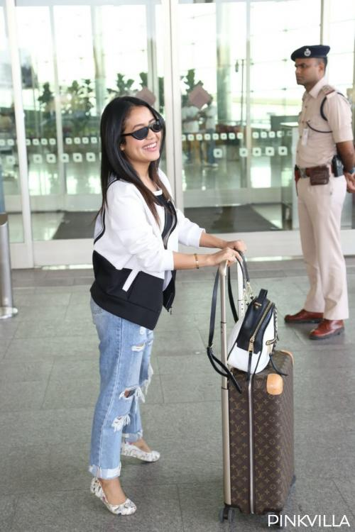 Today, singer Neha Kakkar was papped at the Mumbai airport