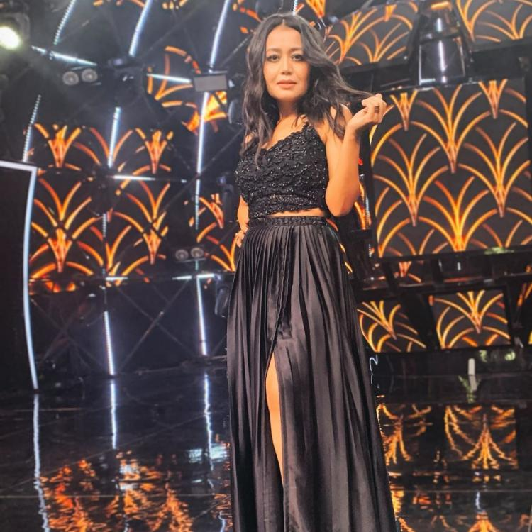 Neha Kakkar stuns in black as she strikes a pose on the sets of Indian Idol 11; Views pics