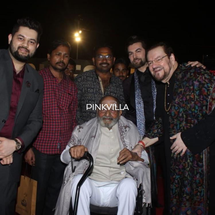 PHOTOS: Saaho actor Neil Nitin Mukesh is all smiles as he poses with K Viswanath at Zee Telugu Awards