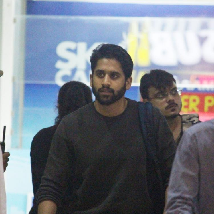 Airport Diaries: Naga Chaitanya returns from Kashmir post the shoot for his upcoming movie Venky Mama