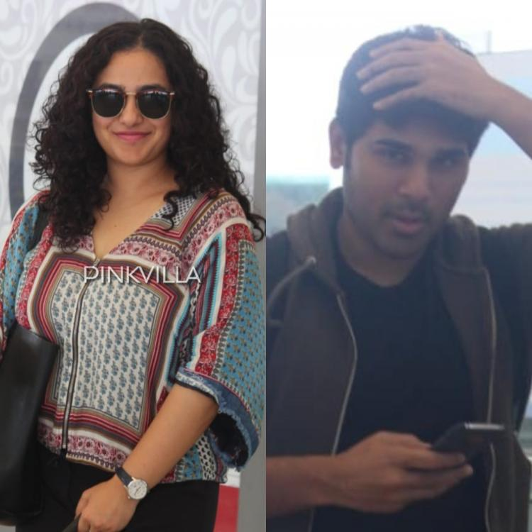 Airport Diaries: Nithya Menen and Allu Sirish spotted at the Hyderabad airport