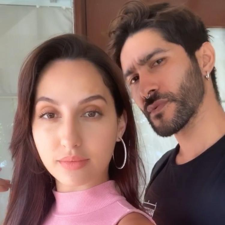 Nora Fatehi's looks breathtaking as she poses for a selfie with makeup artist Marce Pedrozo; See Pics