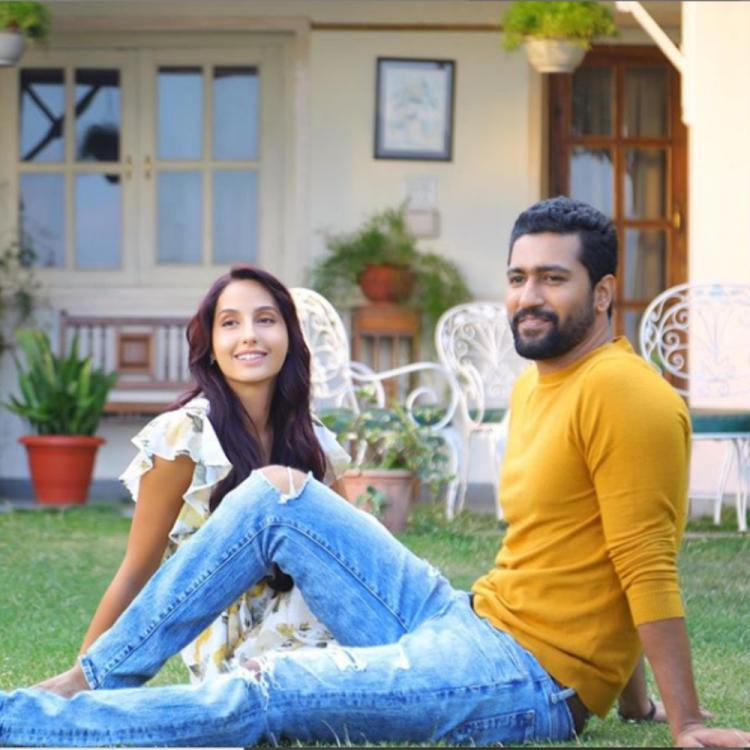 Nora Fatehi shares a PIC with Vicky Kaushal prior to the release of their music video 'Pachtaoge'