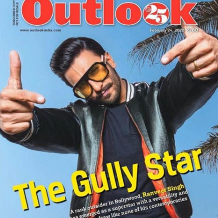 Ranveer Singh is a total Gully Star as he continues to soar high on his magazine cover of Outlook