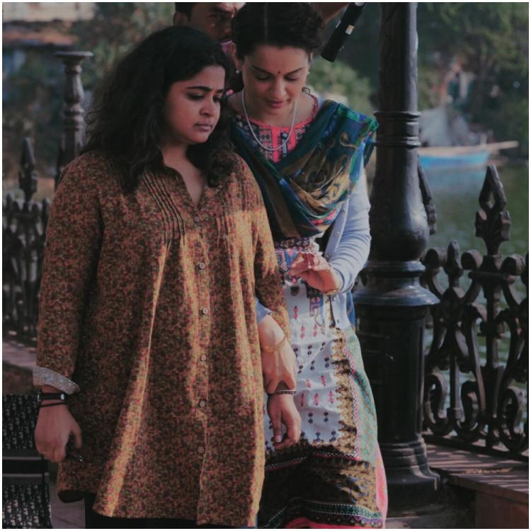 Panga: Kangana Ranaut, Ashwiny Iyer Tiwari 'walk alongside hand in hand for lunch' in BTS pic from film's sets