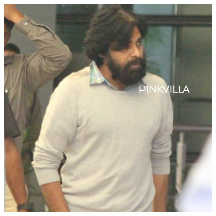 PHOTOS: Pawan Kalyan gets spotted at Hyderabad airport with family as they return from Christmas holidays