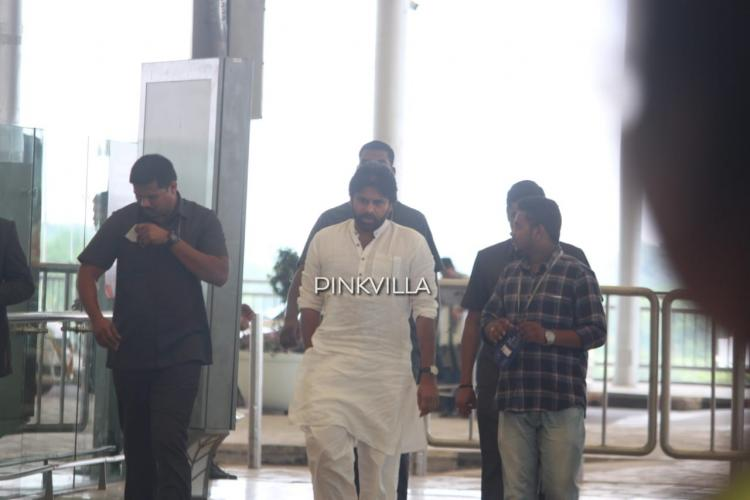 PHOTOS: Pawan Kalyan spotted at Hyderabad airport