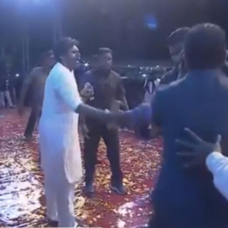 VIDEO: Pawan Kalyan shouts at bouncers as they try to push his fan at Sye Raa event
