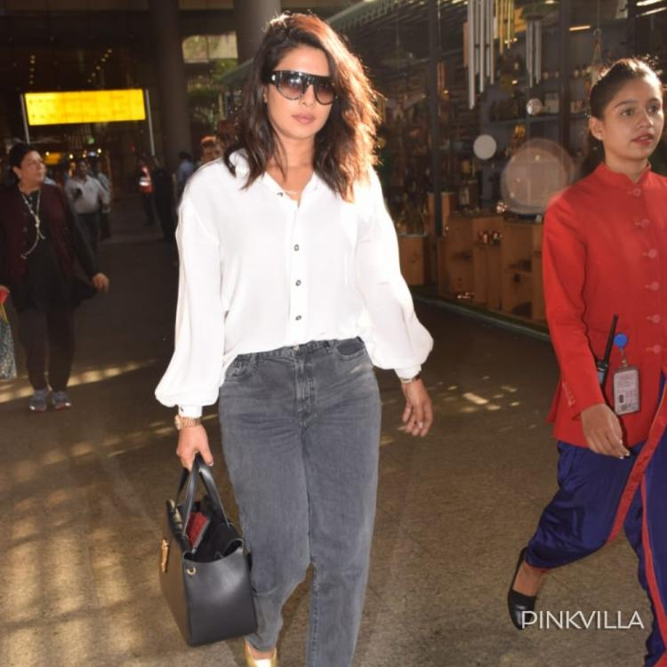 PHOTOS: Priyanka Chopra raises the style quotient as she returns to the city & gets papped at the airport