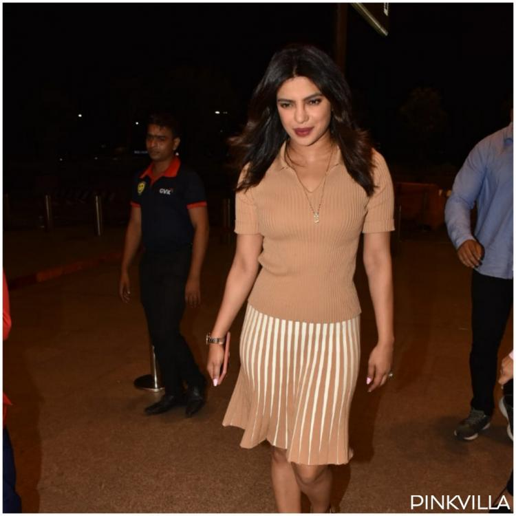 PHOTOS: Priyanka Chopra flaunts her 'mangalsutra' as she makes a style statement at the airport