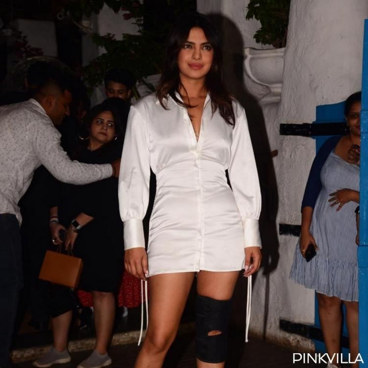 PHOTOS: Priyanka Chopra poses with a knee injury at the wrap up party of The Sky is Pink