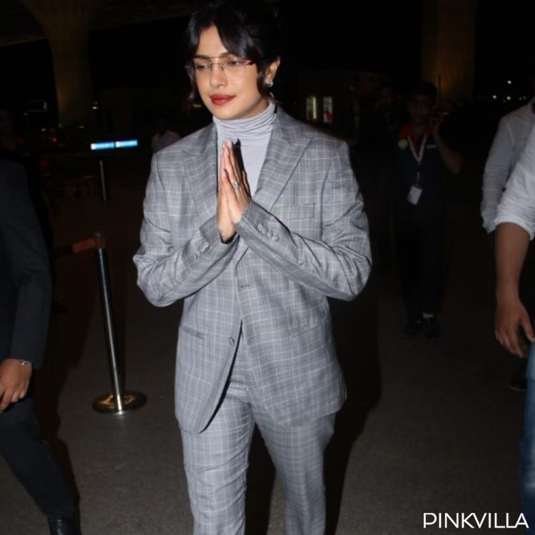 PHOTOS: Priyanka Chopra opts for a classy and trendy outfit as she arrives at the airport