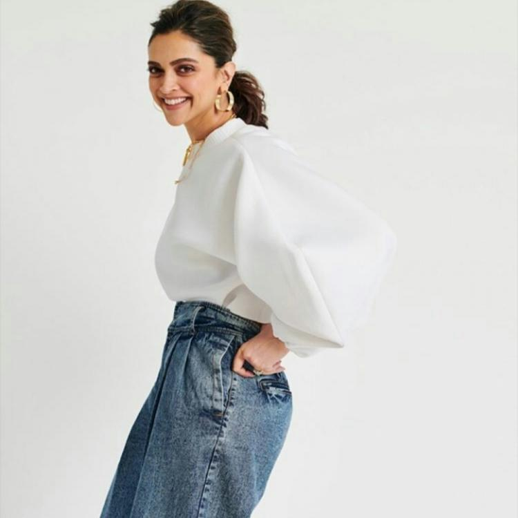 PHOTOS: Deepika Padukone steps out for Chhapaak promotions in a white shirt & denims and leaves us awestruck