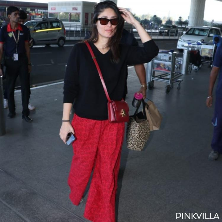 PHOTOS: Kareena Kapoor Khan looks fresh as she makes a cool appearance in comfy red pajama at the airport