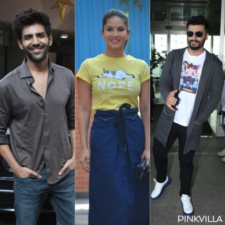 PHOTOS: Kartik Aaryan & Sunny Leone keep it casual as they step out; Arjun Kapoor opts for a cool airport look