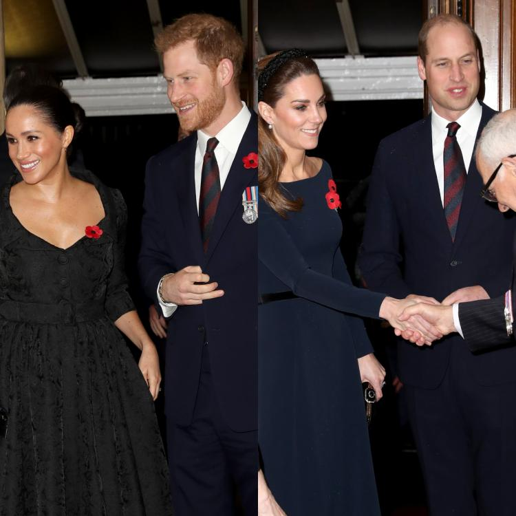Prince Harry, Meghan Markle, Prince William and Kate Middleton were spotted in London for a royal event.