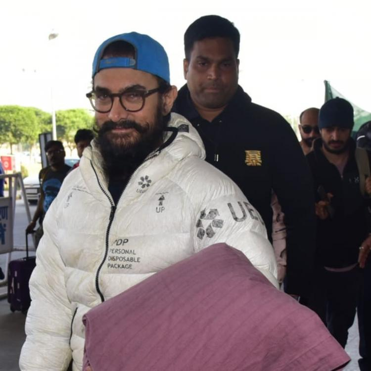 PHOTOS: Aamir Khan sports a winter jacket looking all cozy and comfy when snapped at the airport