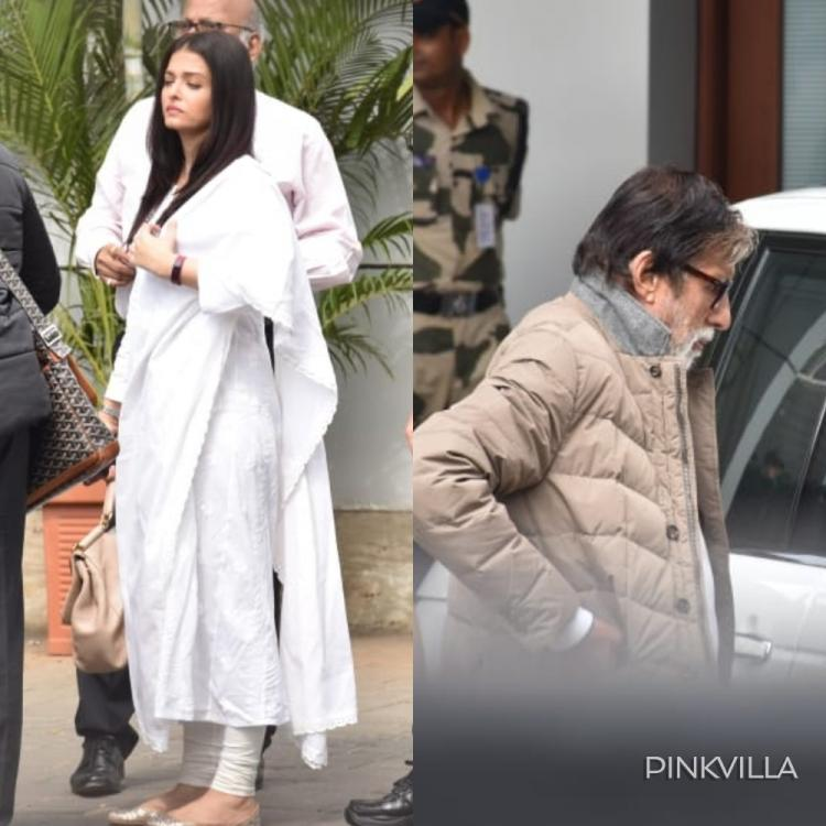 PHOTOS: Amitabh Bachchan & Aishwarya Rai Bachchan spotted at the airport as they head to Ritu Nanda's funeral