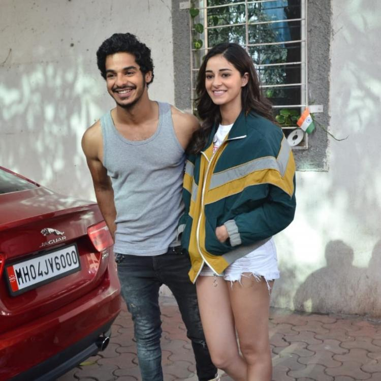 PHOTOS: Ananya Panday is all smiles as she poses with Khaali Peeli co star Ishaan Khatter post dance rehearsal