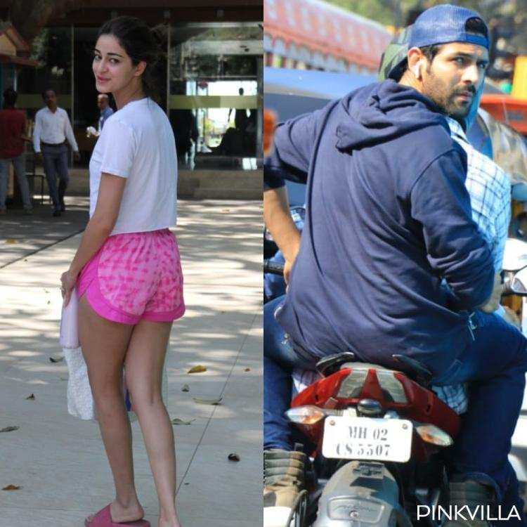 PHOTOS: Ananya Panday goes sans makeup as she steps out; Kartik Aaryan enjoys a bike ride in the city