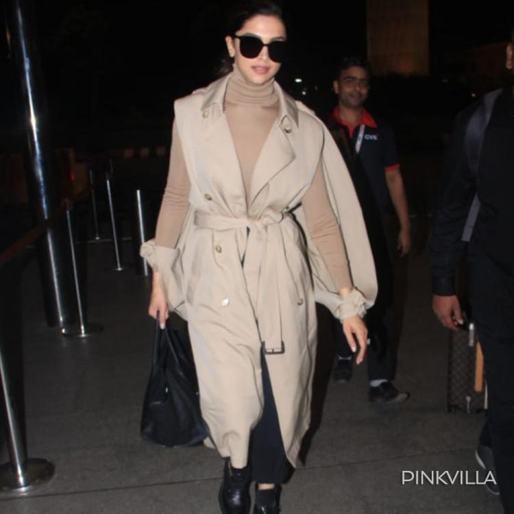 PHOTOS: Deepika Padukone gives major Bond girl vibes as she matches her beige trenchcoat with black shoes