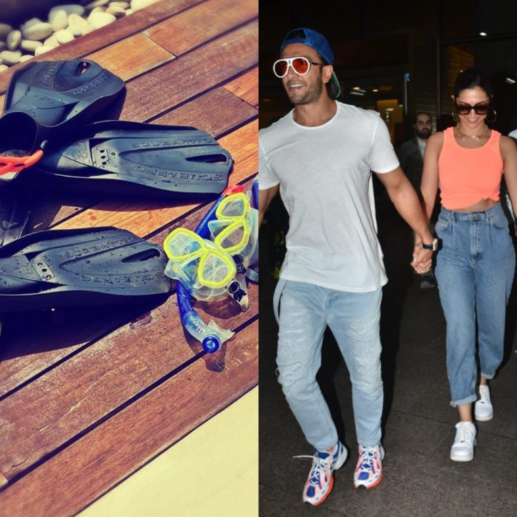 PHOTOS: Deepika Padukone posts his & her series from her vacay with Ranveer Singh; hints at a swim session