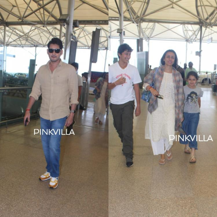 PHOTOS: Mahesh Babu is all smiles as he gets spotted with Namrata Shirodkar, Gautham and Sitara at the airport