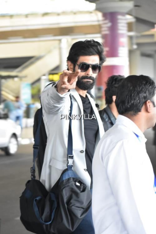 Rana Daggubati has his eyes on the paps as he gets spotted at the airport; Check it out