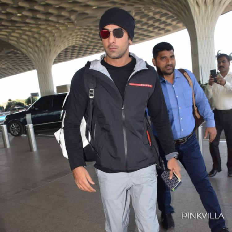 PHOTOS: Ranbir Kapoor looks cool sporting a black beanie with a tracksuit as he gets clicked at the airport