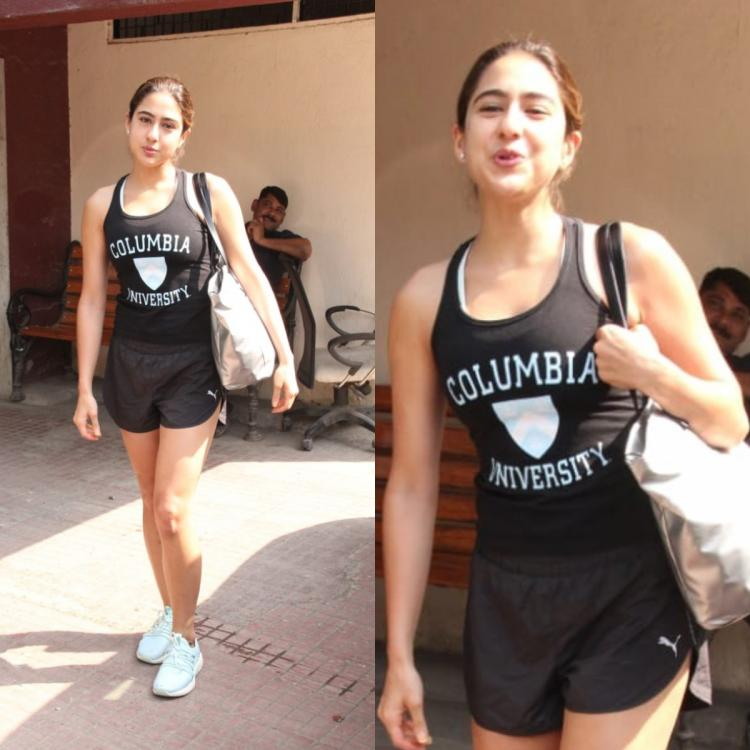 PHOTOS: Sara Ali Khan nails her gym look in an all black attire as she gets snapped in the city
