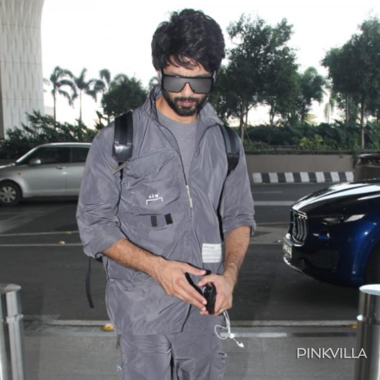 PHOTOS: Shahid Kapoor matches grey tracksuit with black shades as he gets clicked at the airport