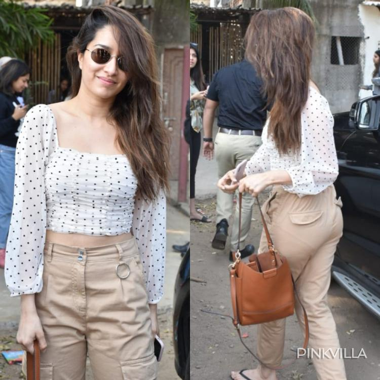 PHOTOS: Shraddha Kapoor clubs white crop top with beige pants and rocks her OOTD as she gets papped