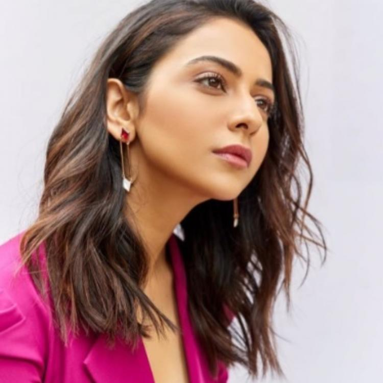 Rakul Preet Singh is winning the fashion game with her Pink pantsuit; Check it out
