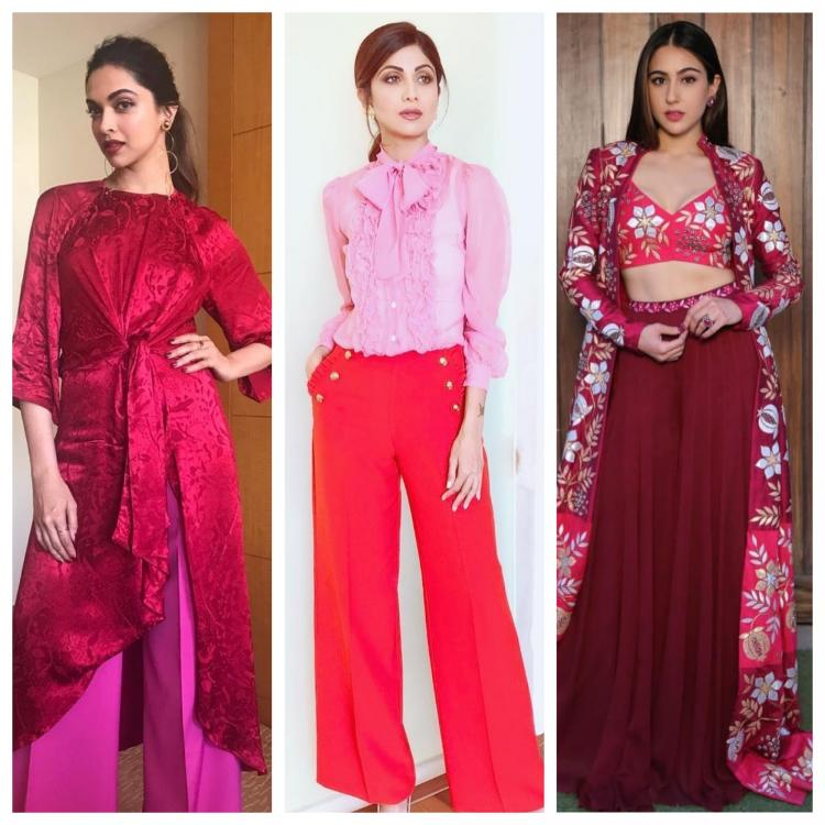 Celebrity Style,bollywood,celebrities,red,Pink,colour blocking