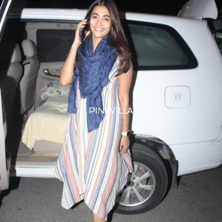 PHOTOS: Pooja Hegde sports a simple and casual attire as she heads towards the airport