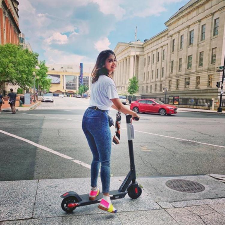 Pooja Hegde enjoys some 'me time' in NYC as she takes a scooter ride; View PIC