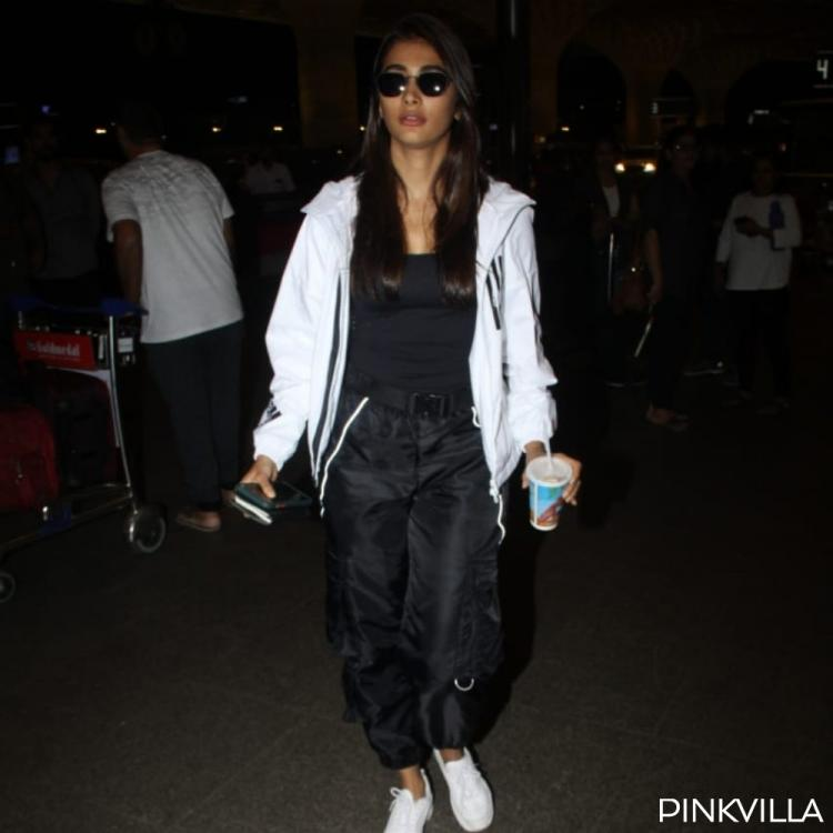 PHOTOS: Pooja Hegde steals the limelight as she makes a stylish appearance at the airport