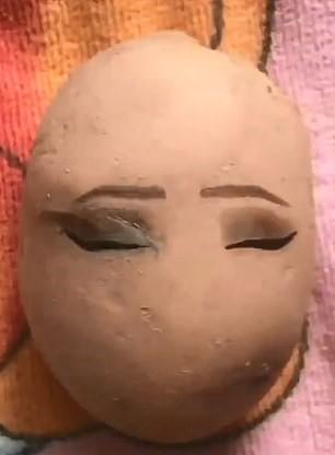 Beauty,make up trend,bizarre make up,potato art