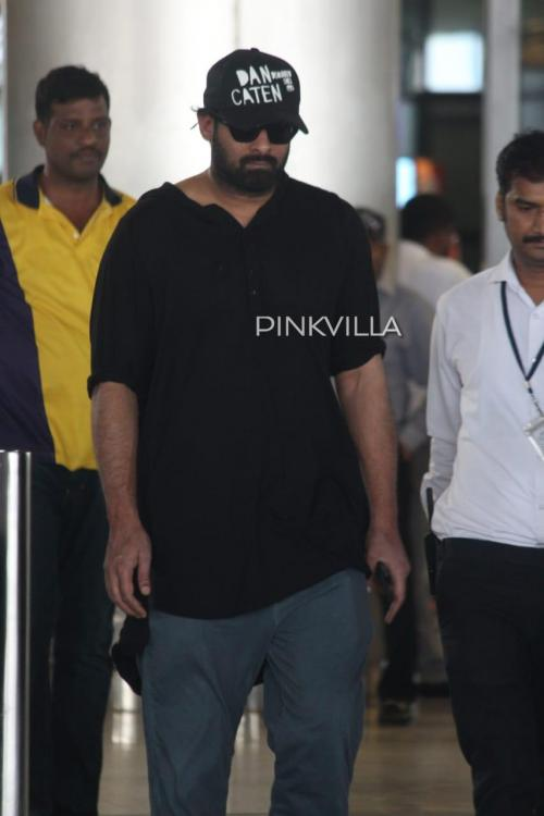Prabhas spotted at Hyderabad airport as he returns from London post Baahubali screening; See Pics