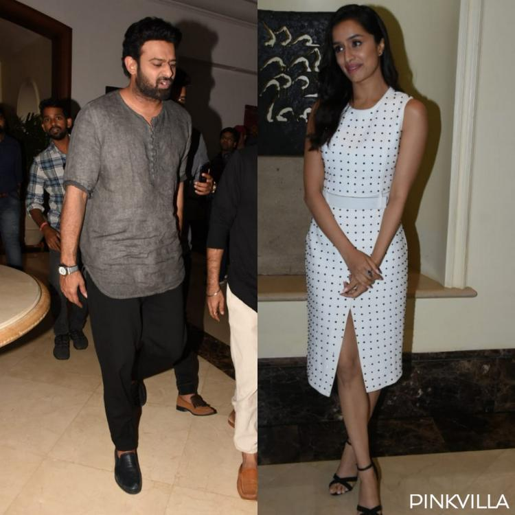 PHOTOS: Saaho stars Shraddha Kapoor and Prabhas step out in the city for the film's promotions