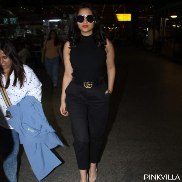 Airport Diaries: Parineeti Chopra looks no less than a boss lady as she slays in a stylish black outfit
