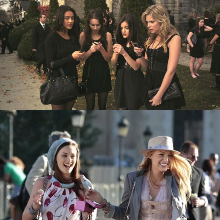 Similarities that Gossip Girl and Pretty Little Liars have in common.