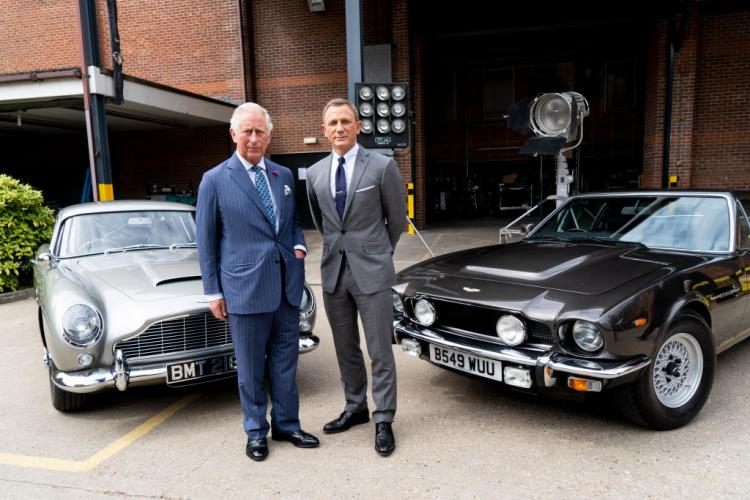 Prince Charles was treated with an inside look at the classic Bond vehicles used in Bond 25.