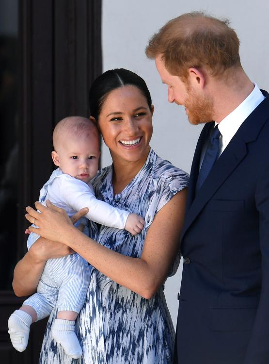 Prince Harry is happy to be able to spend time with wife Meghan Markle and son Archie.