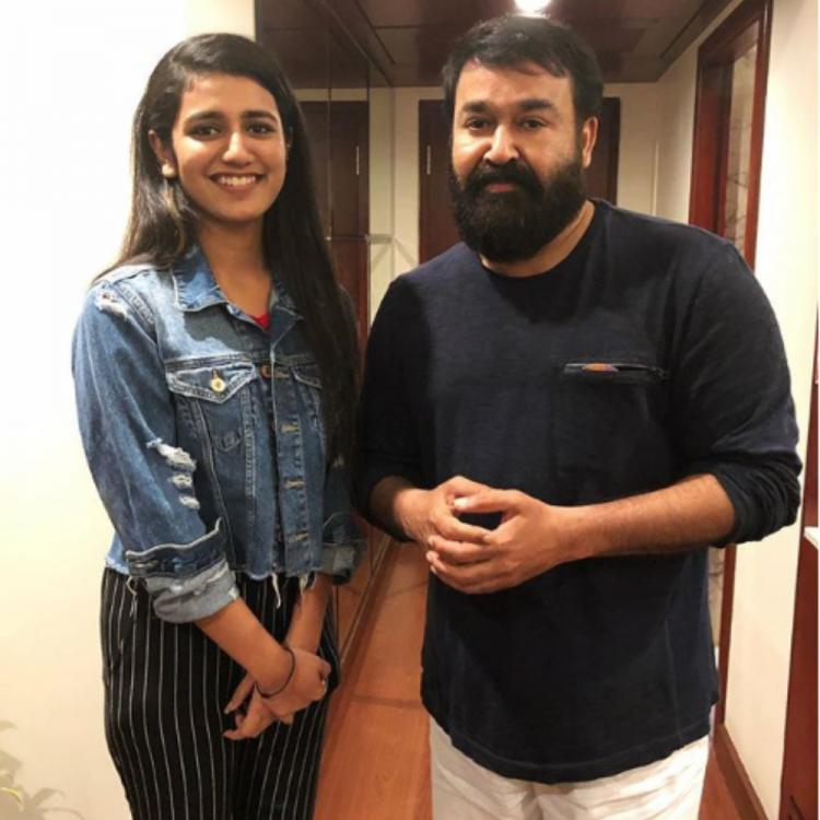 Priya Prakash Varrier reacts on meeting Malayalam superstar Mohanlal, shares picture