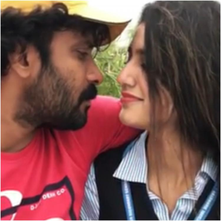 Priya Prakash Varrier's kiss with cinematographer Sinu Siddharth gets a hilarious twist; Watch Video